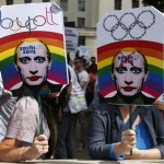 Britain Russia Soschi Protest